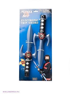 Двойной меч Ниндзя Hap-P-Kid. Цвет: черный, серый