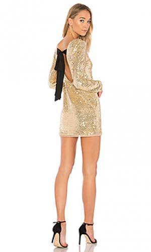 Платье racko RACHEL ZOE. Цвет: металлический золотой