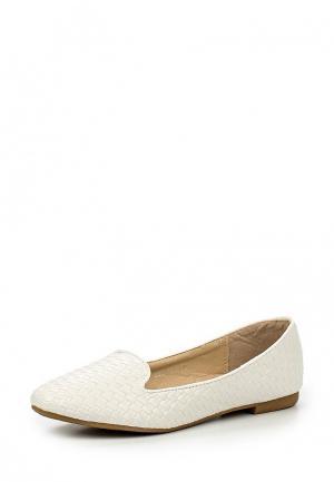 Лоферы Max Shoes. Цвет: белый