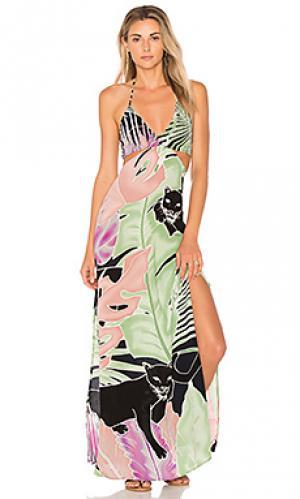 Макси платье blaze Indah. Цвет: зеленый