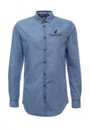 Рубашка джинсовая Hopenlife. Цвет: синий
