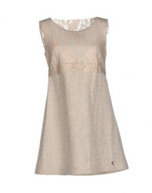 Короткое платье ROBERTA SCARPA. Цвет: светло-серый