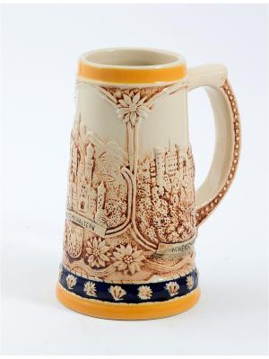 Пивная кружка коллекционная Горные замки BURGER. Цвет: коричневый, оранжевый, темно-бежевый