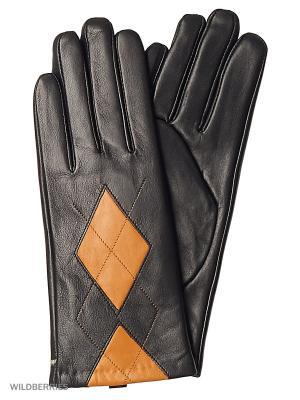 Перчатки женские с эффектом Touch Screen Marco Bonne`. Цвет: черный, рыжий