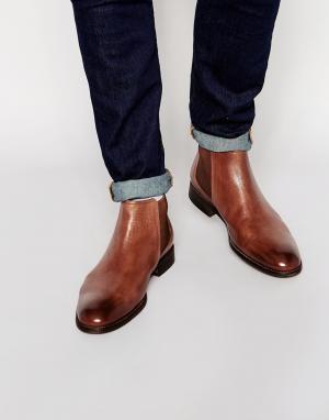 Standard Fortyfive Кожаные ботинки челси. Цвет: рыжий