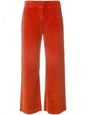 Укороченные брюки Aspesi. Цвет: жёлтый и оранжевый
