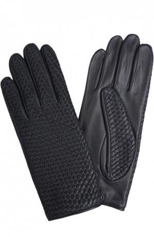 Кожаные перчатки Agnelle. Цвет: темно-синий