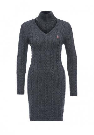 Платье Giorgio Di Mare. Цвет: серый