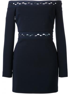 Платье с открытыми плечами  Eclipse Dion Lee. Цвет: чёрный