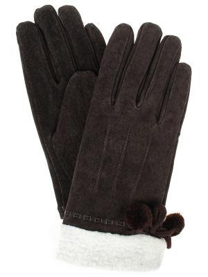 Перчатки Gusachi. Цвет: коричневый, белый