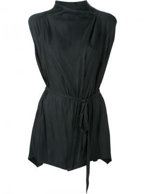 Блузка с драпированными деталями Demoo Parkchoonmoo. Цвет: чёрный