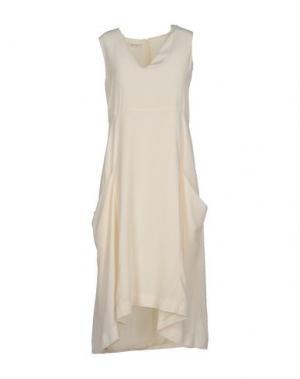 Платье до колена DONDUP. Цвет: слоновая кость