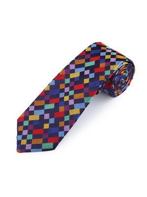Галстук Boolean Boxes Smalt Duchamp. Цвет: черный, горчичный, красный, оранжевый, светло-голубой, светло-зеленый, темно-синий