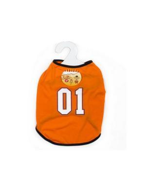 Футболка для животных без рукавов KONONO. Цвет: оранжевый