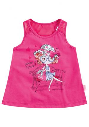 Комплект: майка + шорты KYLY. Цвет: розовый (розовый/белый)
