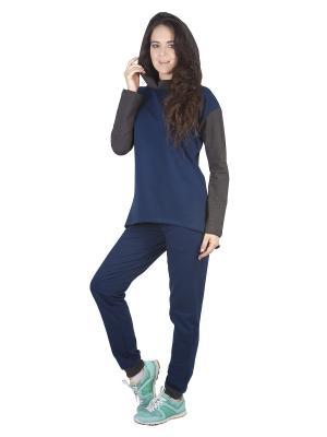 Спортивный костюм Габриэлла Runika. Цвет: синий, антрацитовый