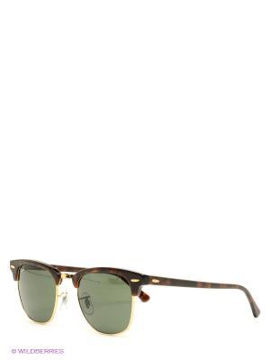 Очки солнцезащитные CLUBMASTER Ray Ban. Цвет: коричневый, зеленый