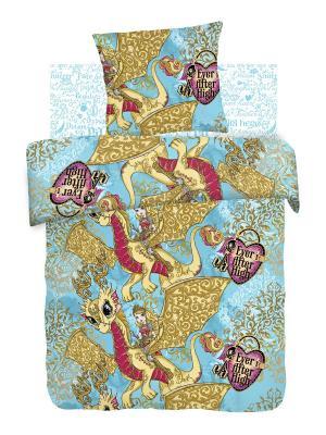 Комплект постельного белья 1,5 бязь Ever After High Disney. Цвет: бирюзовый, желтый