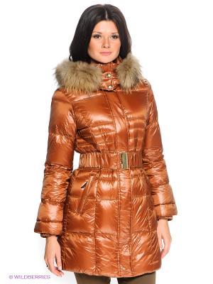 Пальто HAUBER. Цвет: коричневый