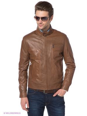 Куртка STEFANO FERRI. Цвет: коричневый
