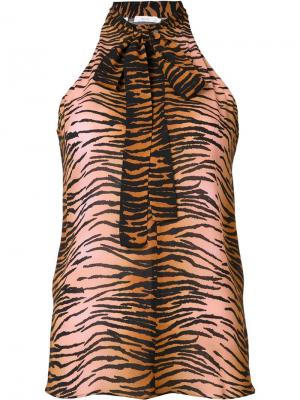 Блузка с тигровым принтом A.L.C.. Цвет: розовый и фиолетовый