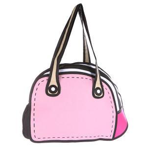 Сумка через плечо женская  2D Pretty Handbag Pink/White/Black Jump from paper. Цвет: розовый,белый,черный