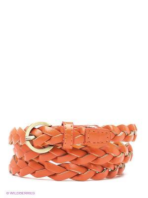 Пояс Oodji. Цвет: оранжевый