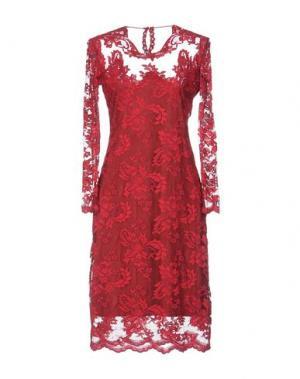 Платье до колена OLVI'S. Цвет: пурпурный