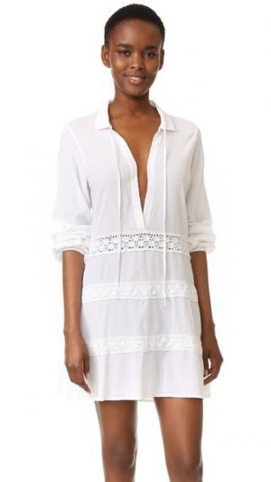 Пляжное мини-платье Madrid 9seed. Цвет: белый
