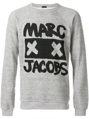 Толстовка с принтом логотипом Marc Jacobs. Цвет: серый