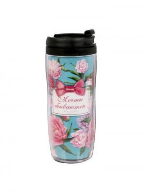Термостакан Bizon. Цвет: розовый