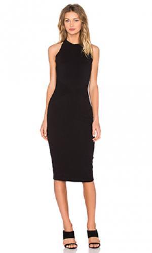 Платье миди agdal Bailey 44. Цвет: черный