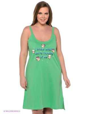 Сорочка Vienetta Secret. Цвет: зеленый