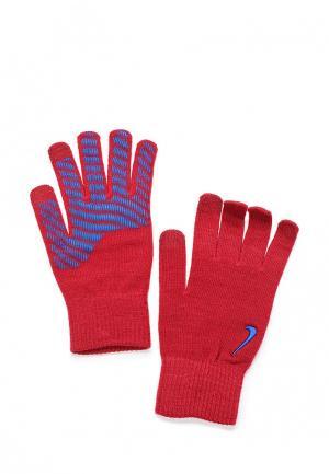 Перчатки Nike. Цвет: красный