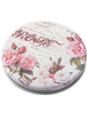 Зеркало Классическая мода карманное круглое Dewal. Цвет: зеленый, розовый, белый