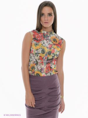 Блузка SUGARLIFE. Цвет: белый, розовый, желтый