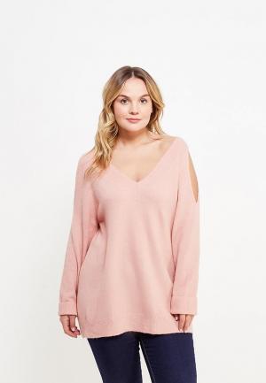 Пуловер Dorothy Perkins Curve. Цвет: розовый