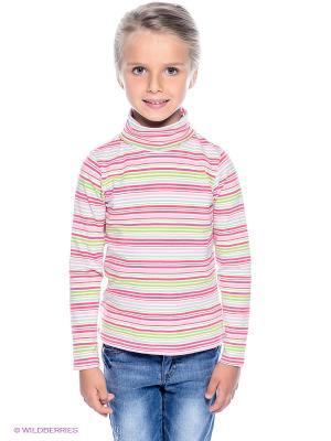 Водолазка PlayToday. Цвет: светло-серый, бледно-розовый, коралловый, белый, салатовый