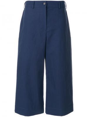 Широкие укороченные брюки Kenzo. Цвет: синий