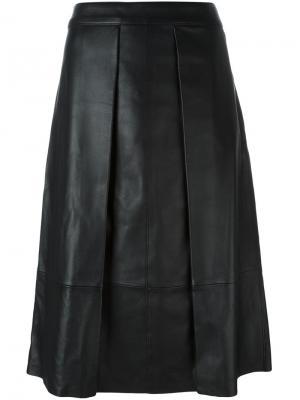Плиссированная юбка Rag & Bone. Цвет: чёрный