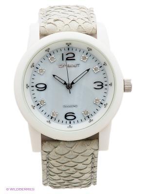 Часы Sprout. Цвет: серый, белый