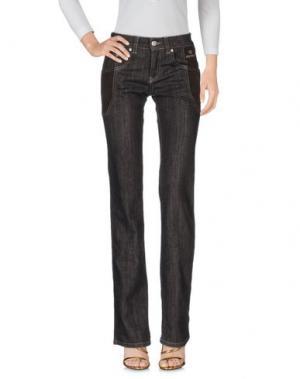 Джинсовые брюки NICWAVE. Цвет: темно-коричневый