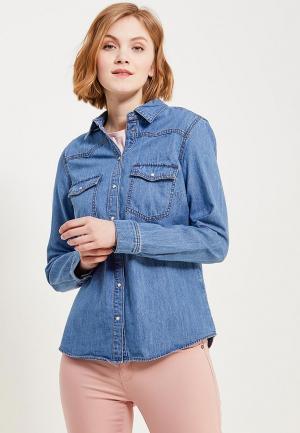 Рубашка джинсовая s.Oliver. Цвет: голубой