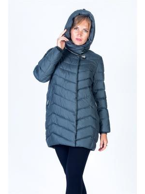 Пальто FREYA. Цвет: серый