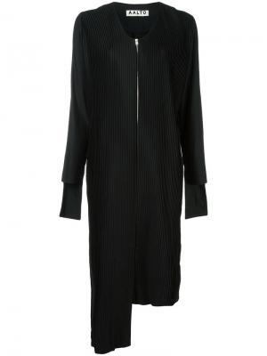 Асимметричное плиссированное платье Aalto. Цвет: чёрный