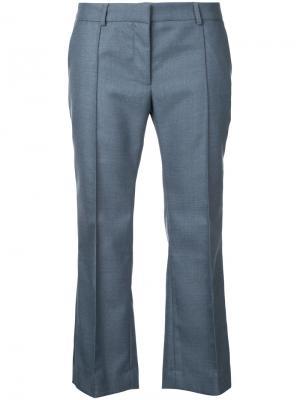 Укороченные расклешенные брюки Rokh. Цвет: серый