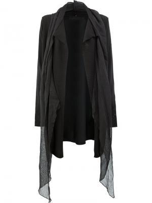 Пальто-кардиган с драпировкой Masnada. Цвет: чёрный