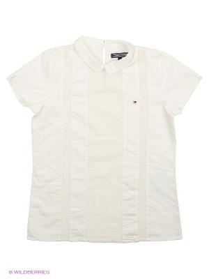 Блузка Tommy Hilfiger. Цвет: белый