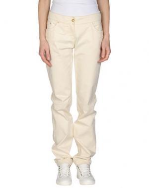Повседневные брюки ROBERTA SCARPA. Цвет: слоновая кость