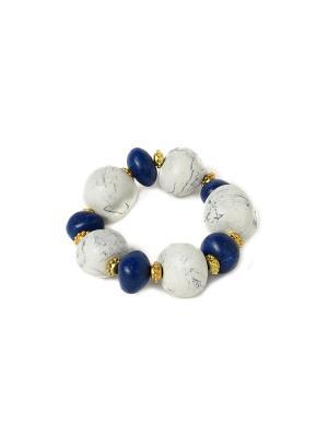 Браслет Лазурит-Мрамор GL0140 Indira. Цвет: синий